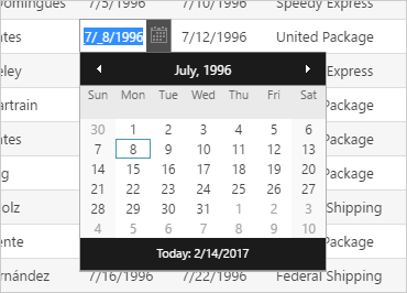Type in a date rather than selecting it from the month view.