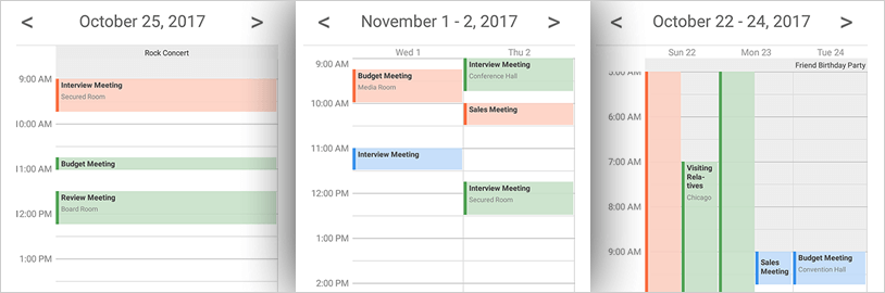 Display a day view with Xamarin Schedule control