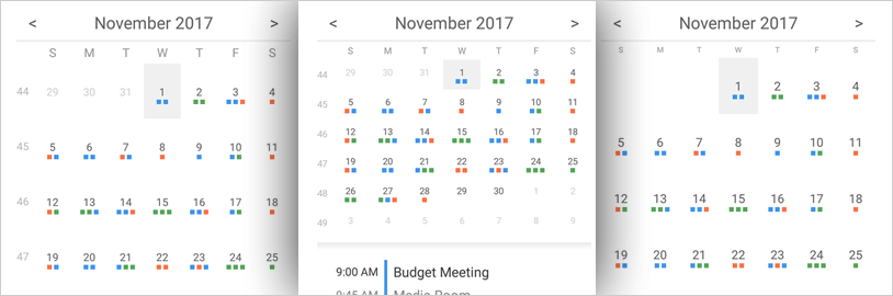 Display a month-based view with Xamarin Schedule control