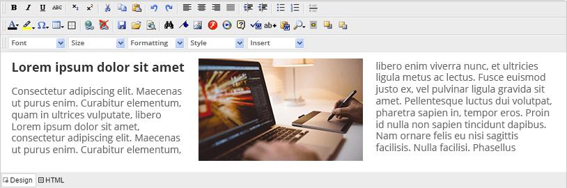 HTML Editor Component – ASP NET | Ultimate UI