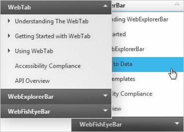 ASP.NET Explorer Bar