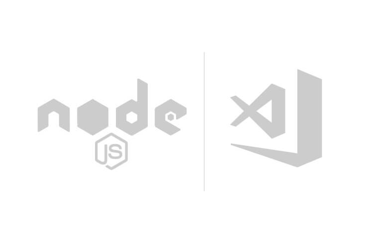Node.js and Visual Studio Code logos