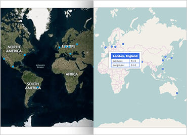 Ignite UI Geographic Map