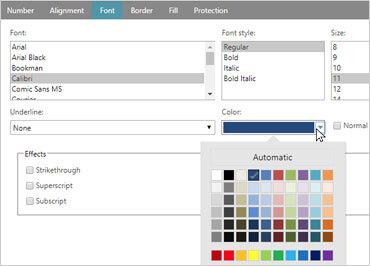 Spreadsheet Component - JavaScript/HTML5 & jQuery | Ignite UI
