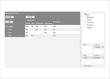 OLAP Pivot View Example