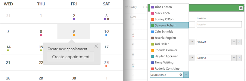 Schedule Component - JavaScript/HTML5 & jQuery | Ignite UI