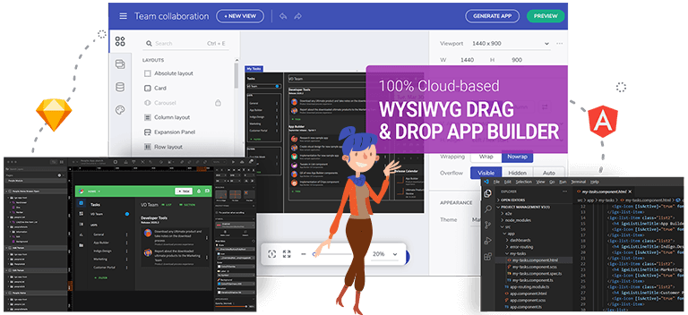 Indigo.Design is design-to-code software that supports wireframing, prototyping, user testing and code generation.