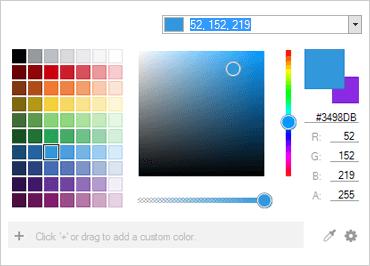 WinForms color palette