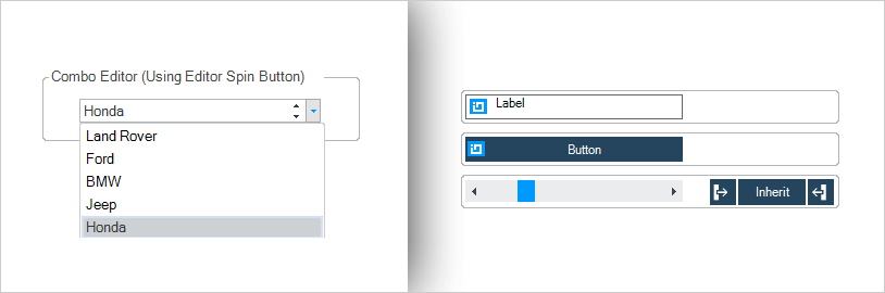 WinForms Combo Box Editor drop-down box and vertical scrolling