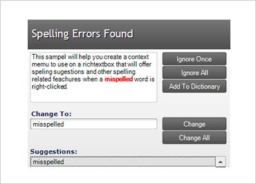 WinForms Spell Checker Dialog