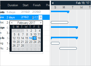WinForms Gantt View Task Management