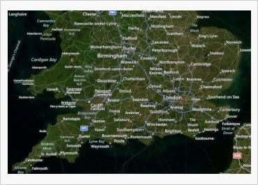 WinForms Geographic map with geographic imagery from Bing Maps