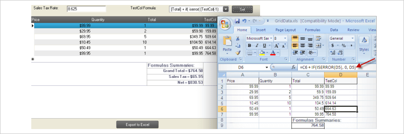 WinForms Seamless Formula Translation