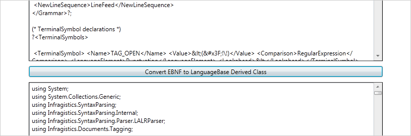 WinForms EBNF Support