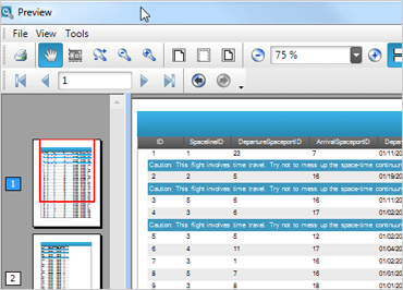 WinForms Print Preview Dialog