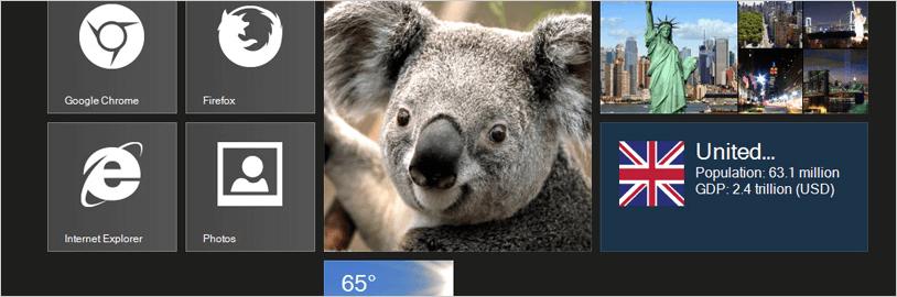 Windowsforms Live Tile View Customization