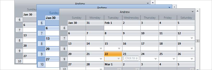 WinForms Schedule Working Hours Example