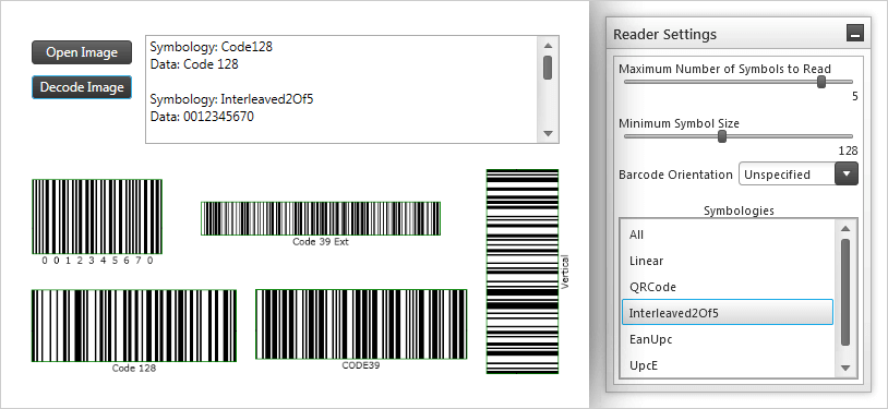 Adjust Reader settings to optimize the scanning of barcodes