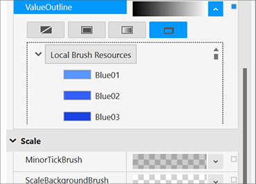 Resource Picker Example for WPF Bullet Graph Control