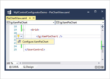 XAML Editor Example for WPF Category Chart Control