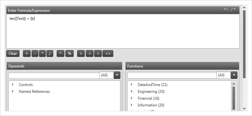 Formula Editor Dialog