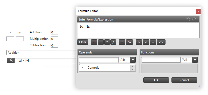 Formula Editor Component – WPF | Ultimate UI