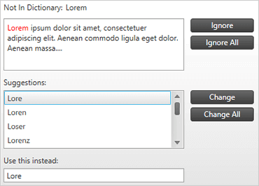 WPF Spell Checker
