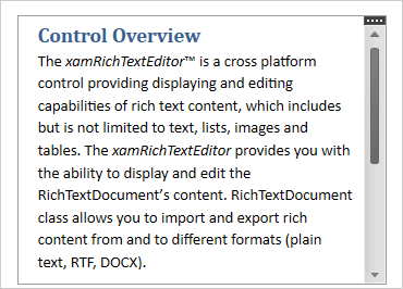 Rich Text Editor Component – WPF | Ultimate UI