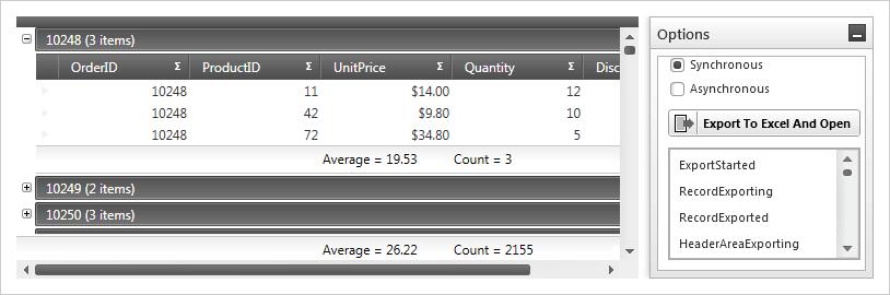 WPF データ グリッド Excel 出力