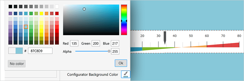 WPF リニア ゲージ コンフィギュレーター - 背景色