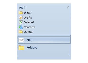 Outlook Listbar