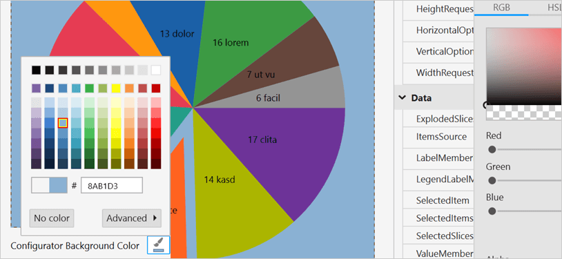 Color Customization for WPF Pie Chart Control backgrounds