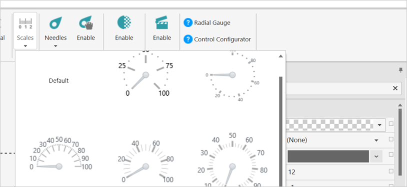 Pre-set Scale Customizations for WPF Radial Gauge Control