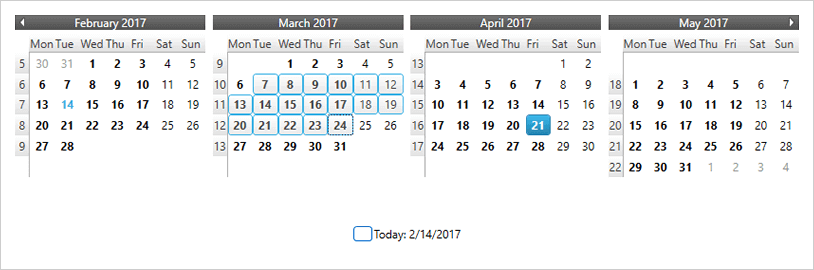 Single/Multiple Date Selection