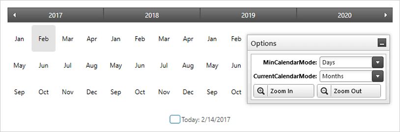 Windows 7 Style Calendar