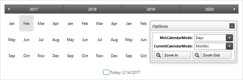 Windows 7 Style Calendar