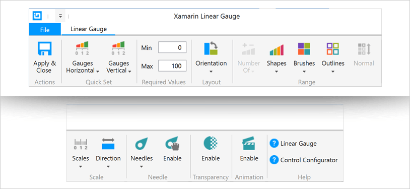 Xamarin Linear Gauge: Orientation