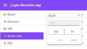 Cryptocurrency sample portfolio application