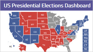 Blazor アメリカ大統領選挙ダッシュボード