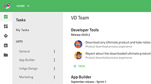 Angular Team Collaboration sample application