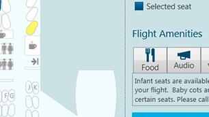 WPF エアライン座席チャート