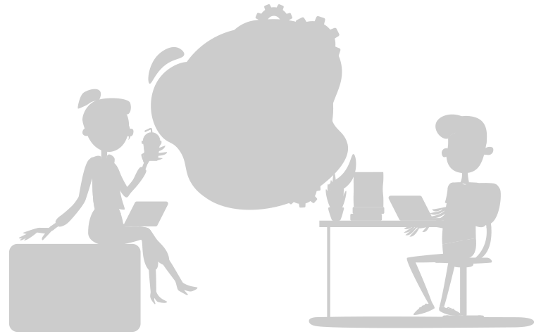 Illustration featuring a designer and developer working against the clock
