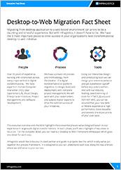 Desktop To Web Application Migration Fact Sheet