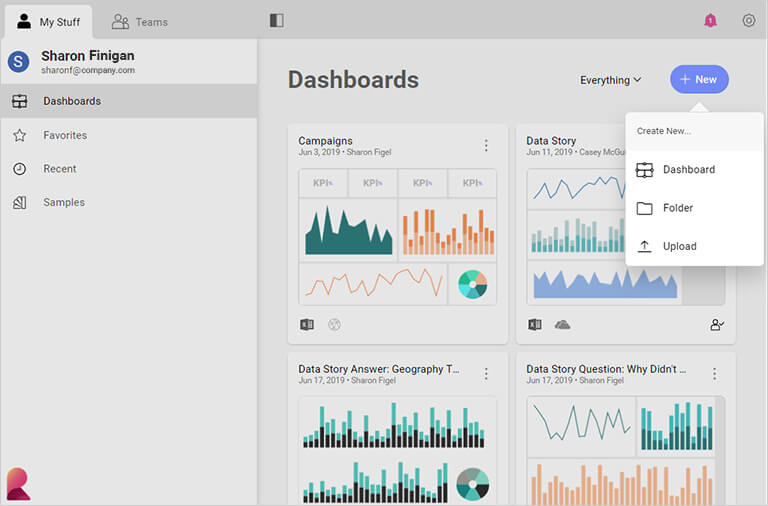 Marketing Dashboard in Reveal